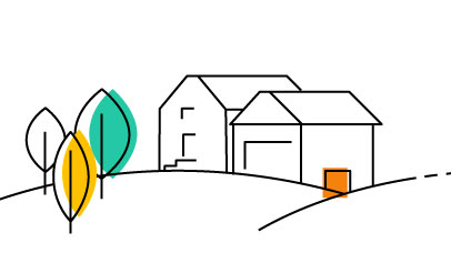 iconic drawing of a home